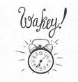 alarm clock rings vector image