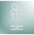 Christmas card with a surprise  EPS8 vector image