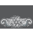 floral ornament card vector image vector image