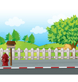A letter box and a fire hydrant vector image vector image