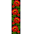 seamless vertical floral pattern border vector image vector image