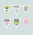 stock design cover for pizza slice boxes vector image