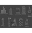Tall buildings chalk vector image