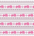 horizontal seamless pattern pink cartoon elefants vector image