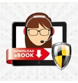 person using an electronic book design vector image