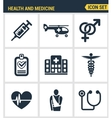 Icons set premium quality of healthcare vector image