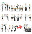 Teamwork In Business Work Process And Building vector image
