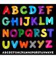 capital letters alphabet cartoon vector image