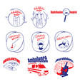 doodle medical logos and labels set vector image