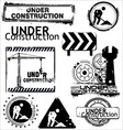Grunge under construction vector image