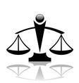 justice scales icon vector image