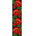 seamless vertical floral pattern border vector image