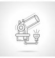 Telescope flat line design icon vector image