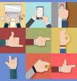variouse hand gesture graphic vector image