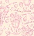 Ice cream seamless pattern background vector image