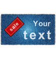 Sale jeans banner vector image