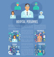 hospital personnel doctors medical poster vector image