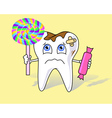 tooth aching vector image vector image