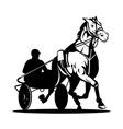 horse and jockey harness racing vector image