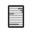 Abacus sign black icon on vector image