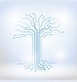 digital tree made of circuits