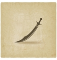 Arabian saber scimitar old background vector image