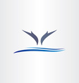 dolphins jump in water icon design vector image