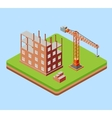 Industrial city building vector image vector image