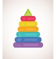 children pyramid for infographic child vector image