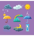 Childish Weather Icon Set vector image