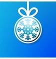 Christmas applique snowflak background EPS8 vector image