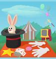 magician tools concept cartoon style vector image