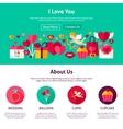 Website Design I Love You vector image