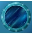 Window with stars and nebulas vector image