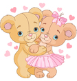 1Teddy bears in love vector image