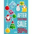After Christmas Sale Concept vector image
