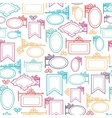 Street signs seamless pattern background vector image