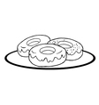 Cartoon donuts vector image vector image