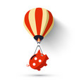 Hot air balloon with piggy bank vector image