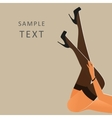 Beautiful female legs wearing stockings and black vector image