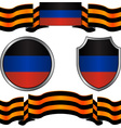flag of donetsk republic and georgievsky ribbon vector image