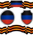 flag of donetsk republic and georgievsky ribbon vector image vector image