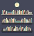 Flat Design Bookshelves vector image