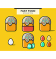 Set of elements for Happy Easter vector image