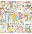 Background with ice cream vector image
