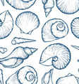 Seashell Patterned Background vector image
