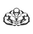 Muscle man icon Bodybuilder design vector image