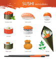 sushi types vector image