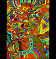 beautiful decorative psychedelic hippie vector image