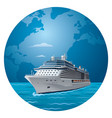 Cruise ship travel vector image